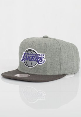 Czapka Snapback Mitchell & Ness NBA Heather Reflective LA Lakers