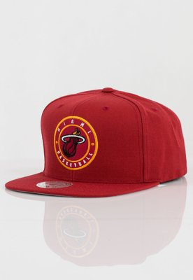 Czapka Snapback Mitchell & Ness NBA Twill Circle Miami Heat