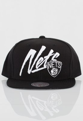 Czapka Snapback Mitchell & Ness NBA Vice Script Solid Brooklyn Nets