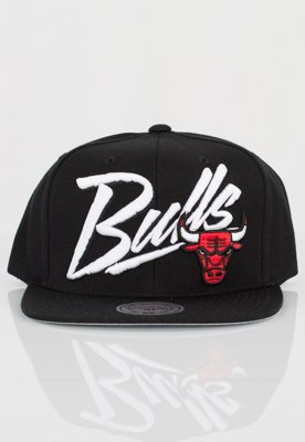 Czapka Snapback Mitchell & Ness NBA Vice Script Solid Chicago Bulls