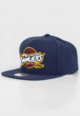 Czapka Snapback Mitchell & Ness NBA Wool Solid Cleveland Cavaliers