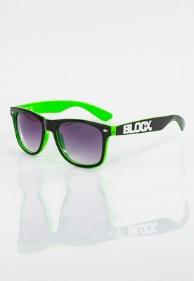 Okulary Blocx Shine Black X Green 14