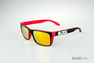 Okulary Blocx Slim X Red Mirror 32