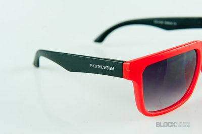 Okulary Blocx Square Red x Black 140