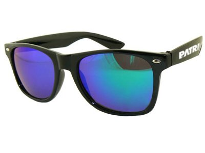 Okulary Patriotic Classic Black Dark Blue 696