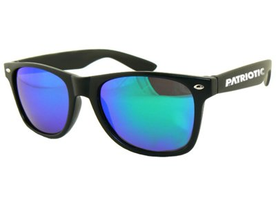 Okulary Patriotic Classic Mat Black Dark Blue 5326
