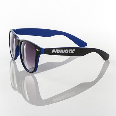 Okulary Patriotic Double Black Dark Blue 3190
