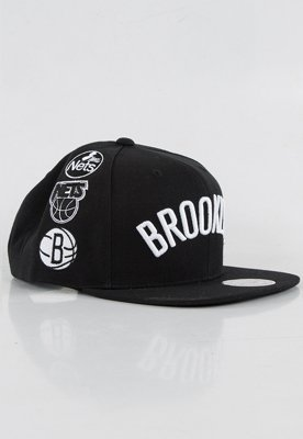 Snap Mitchell & Ness NBA Logo History Brooklyn Nets czarny