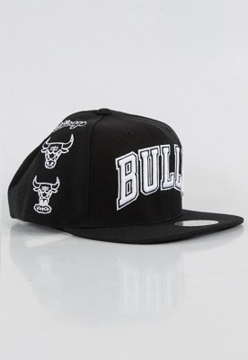 Snap Mitchell & Ness NBA Logo History Chicago Bulls czarny