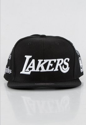 Snap Mitchell & Ness NBA Logo History LA Lakers czarny