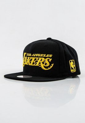 Snap Mitchell & Ness NBA Metallic Logo LA Lakers