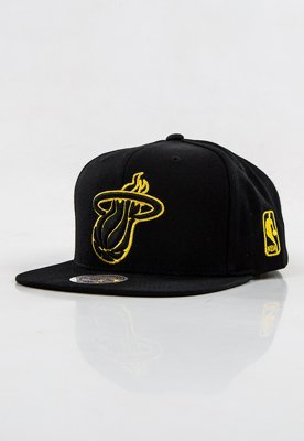 Snap Mitchell & Ness NBA Metallic Logo Miami Heat