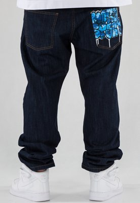 Spodnie Moro Sport Straight Fit Graffiti dark blue