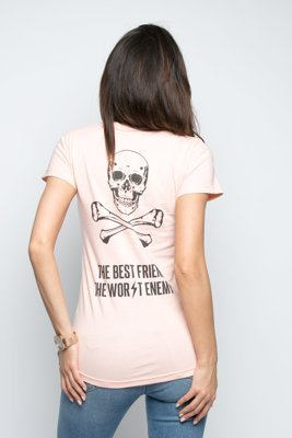 T-shirt Diamante Wear Best Friend, Worst Enemy łososiowy