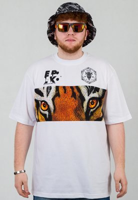 T-shirt El Polako Wild Eyes Tiger biały