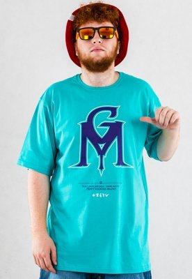 T-shirt Ganja Mafia GM Color miętowy