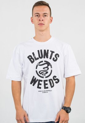 T-shirt Grube Lolo Weeds biały