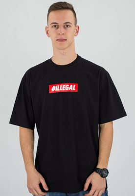 T-shirt Illegal Odcisk czarny