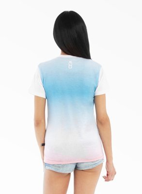 T-shirt Lucky Dice Gradient Girl Sky Blue