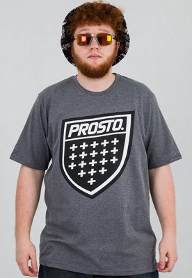 T-shirt Prosto Shield szary