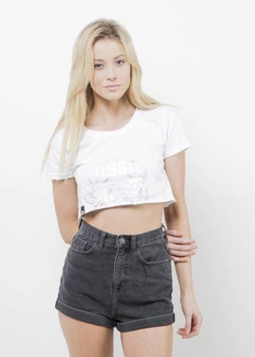 T-shirt Saint Mass Crop Top Base biały