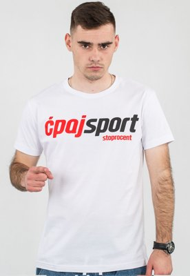 T-shirt Stoprocent CS Simple biały