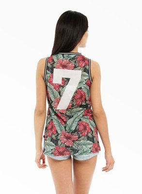 Tank Lucky Dice Jersey Flowers
