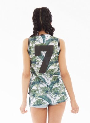 Tank Lucky Dice Jersey green leaves